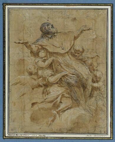 Apothéose de saint Ignace porté au ciel par quatre anges