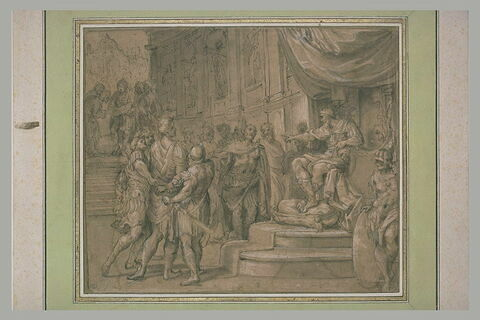 Remus conduit devant Amulius