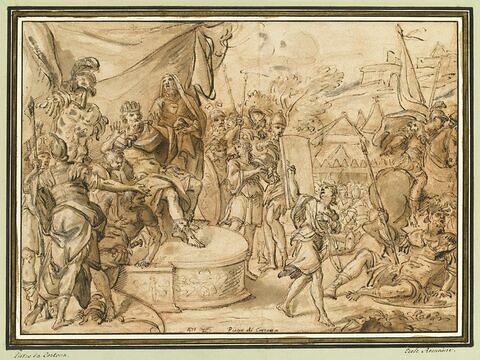 David devant le roi Saül, partant pour combattre Goliath