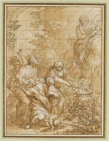L'ombre de Samuel est évoquée devant Saül par la pythonisse d'Endor