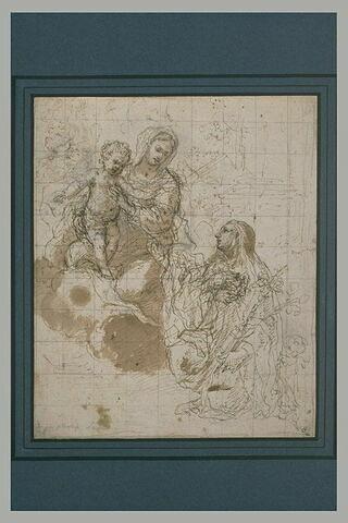 Apparition de la Vierge et de l'Enfant Jésus à une sainte