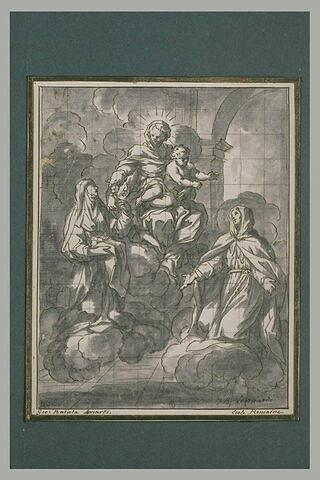 La Vierge à l'Enfant entre deux religieuses
