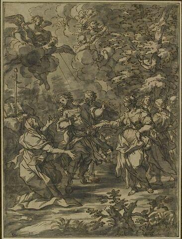 Saint Male, ermite, est contraint d'épouser une femme esclave et mariée