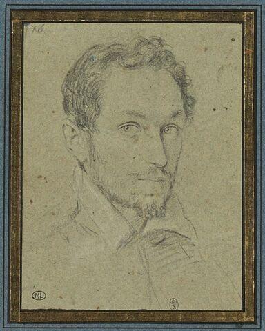 Portrait d'homme : moustache, col rabattu