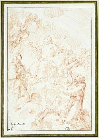 Saint François d'Assise et la Vierge intercédant auprès de Jésus-Christ