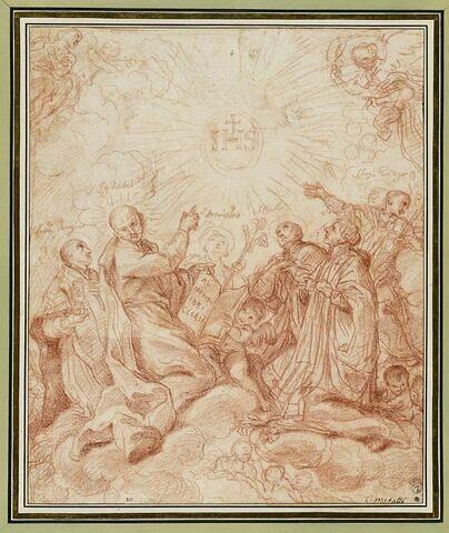 Adoration du Saint nom de Jésus par plusieurs saints