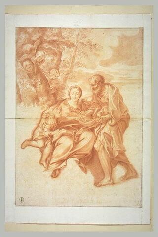 Sainte Famille dans un paysage