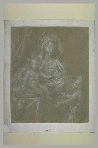 La Vierge assise avec l'Enfant Jésus sur les genoux et saint Jean