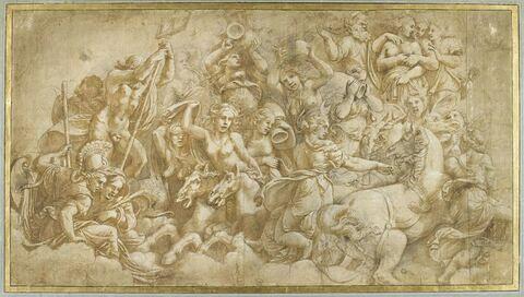 Les Dieux de l'Olympe épouvantés par l'attaque des Géants