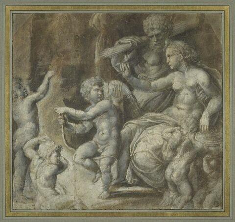 Vénus, Vulcain, l'Amour et des putti