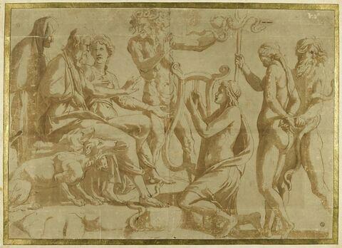 Orphée intercédant auprès de Pluton et Proserpine en faveur d'Euridice