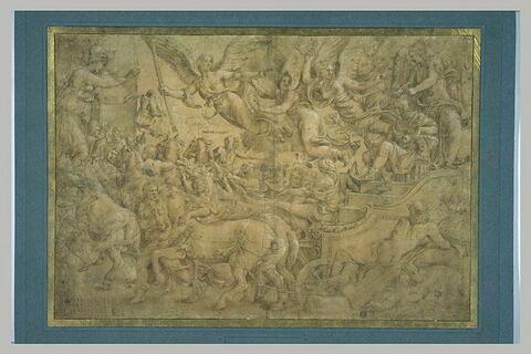 Triomphe de Scipion : Scipion sur un char triomphal