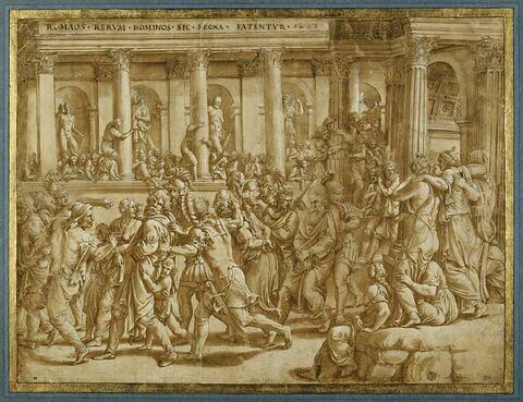 Triomphe de Scipion : soldats conduisant les prisonniers
