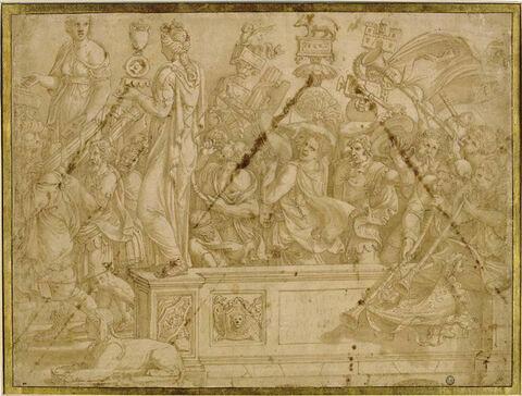 Triomphe de Scipion : licteurs et musiciens