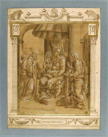 Vierge à l'Enfant avec saint Benoît et saint Jean l'Evangéliste