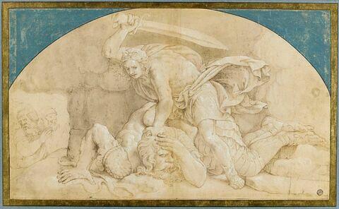 David coupant la tête de Goliath