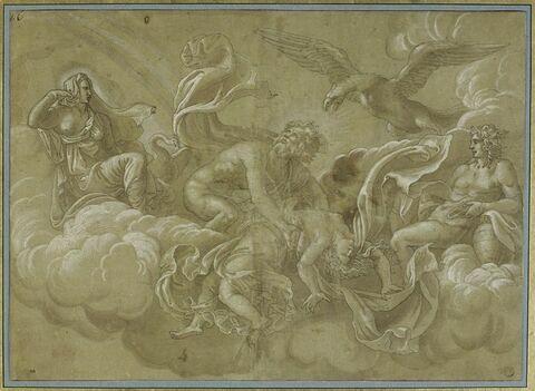 Vénus évanouie entre les bras de Jupiter