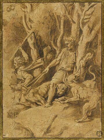 Scène de chasse (fragment de la chasse au sanglier de Calydon)