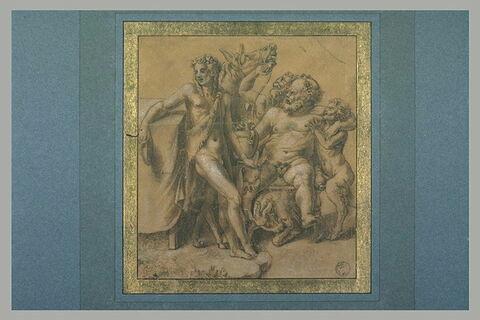 Bacchus, Silène et deux satyres