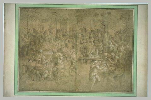 Triomphe de Scipion : le banquet de Scipion avec ses généraux