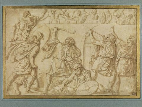 Les Daces attaquant les Romains