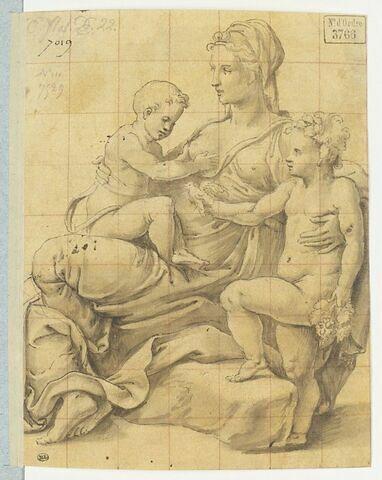 L'Enfant prenant le sein de la Vierge, et saint Jean lui montrant un oiseau
