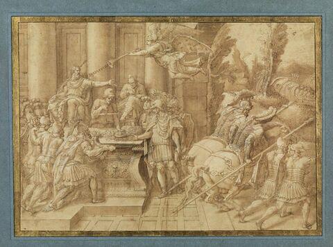 Le roi Priam donne congé à son fils Polydore