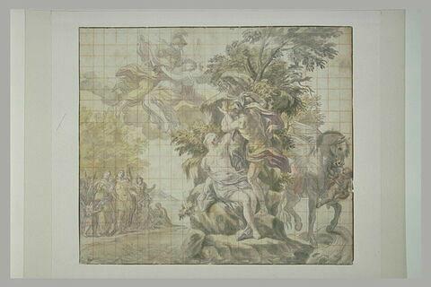 Persée délivrant Andromède, avec à leurs côtés Pégase