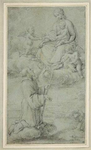 Apparition de la Vierge et de l'Enfant Jésus à saint François de Paule