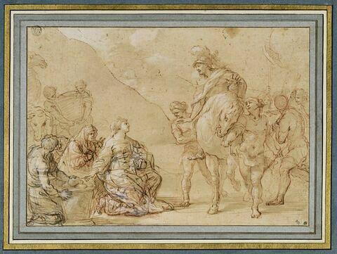 Abigaïl offrant des présents à David