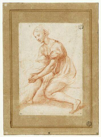 Etude pour la Vierge et l'Enfant  de la 'Grande Sainte Famille' de François Ier