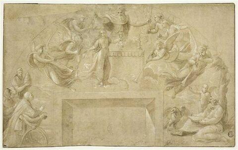 Saint Jean et le pape Jules II ayant la vision de l'ouverture du 7è sceau