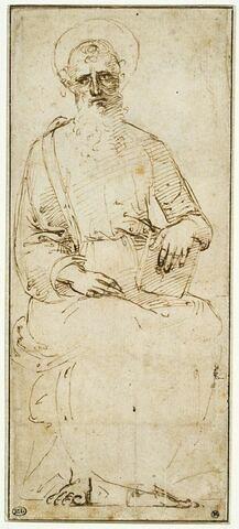 Saint Jean l'évangéliste assis, tenant un livre