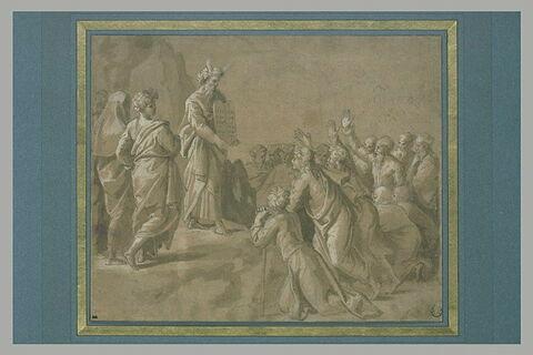 Moïse présentant au peuple d'Israël les Tables de la Loi