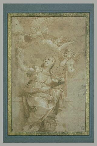 La Sibylle de Cumes et deux anges