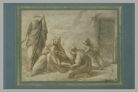 La Vierge évanouie, avec saint Jean et les Saintes Femmes devant le Tombeau