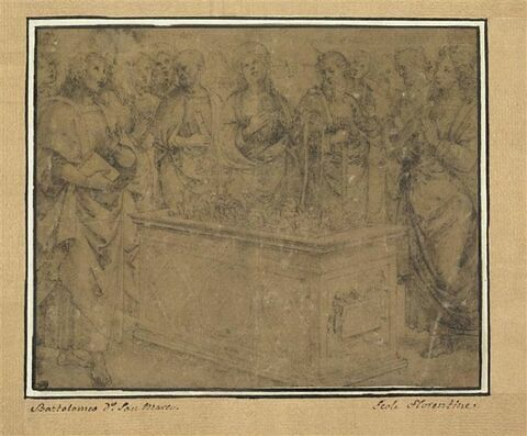 Les douze apôtres autour du tombeau de la Vierge