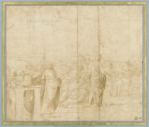 Dix-neuf figures, d'après la partie gauche de la Dispute du Saint Sacrement