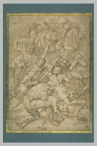 Combat de fantassins et de cavaliers, d'après la Bataille de Constantin