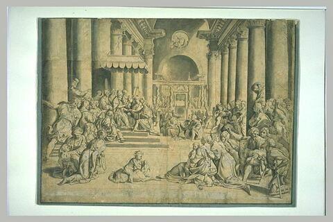 Constantin donnant Rome au pape Sylvestre Ier : la donation de Constantin