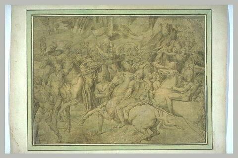 Cavaliers et fantassins, d'après la Rencontre de Léon Ier et Attila