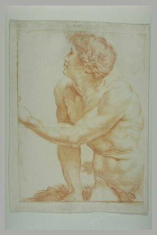 Homme nu assis : Adam dans la Tentation d'Adam et Eve