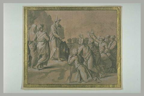 Moïse montrant au peuple d'Israël les Tables de la Loi