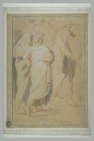 Moïse montrant les Tables de la Loi et trois figures