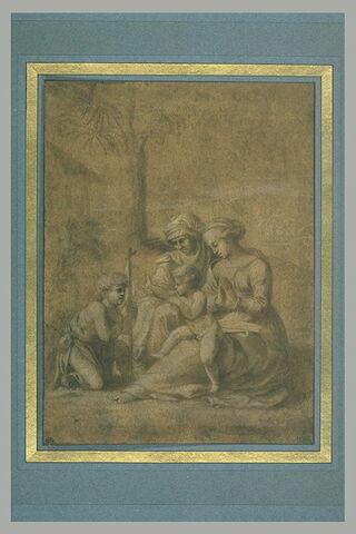 La Vierge et l'Enfant avec sainte Elisabeth et saint Jean dans un paysage