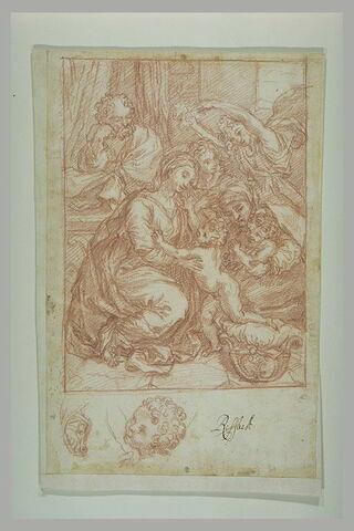 La Grande Sainte Famille de François Ier ; reprise de la tête et du pied