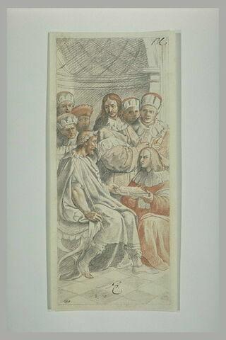 Tribonianus remettant les pandectes à Justinien