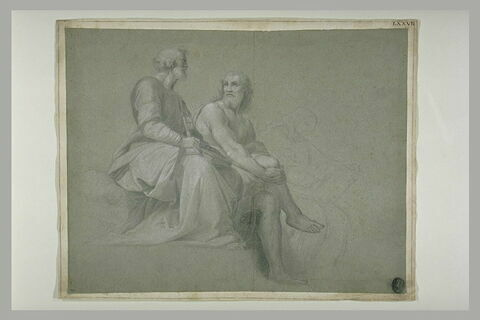 Saint Pierre, Adam, et saint Jean l'Evangéliste