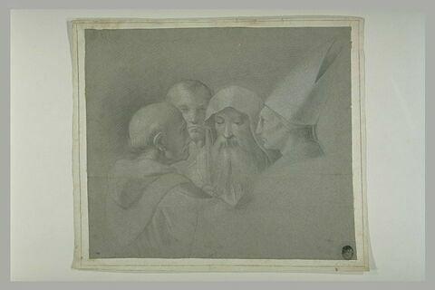 Quatre hommes : figures dans la Dispute du Saint Sacrement