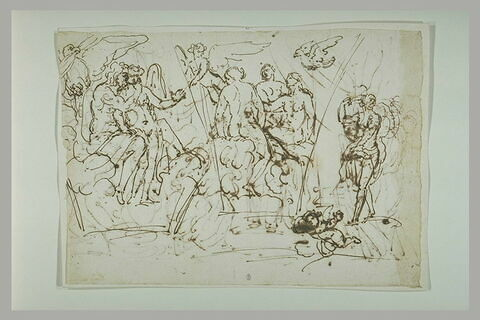 Jupiter et l'Amour ; l'Amour montrant Psyché aux Grâces ; Vénus ; putto